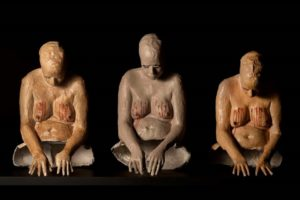 atrapadas-sculpture-pieces-from-the-short-%ef%ac%81m-la-tetilla-2013-painted-cardboard-80-x-70-x-70-cm-each