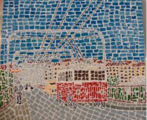 bus-96-on-lilla-essingen-2013-mosaic-29-5-x-34-x-1-2-cm