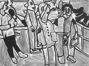 five-people-2011-linocut-31-x-42-cm