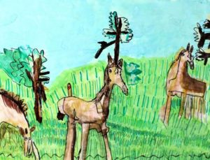 horses-2014-watercolour-on-paper-35-5-x-45-5-cm