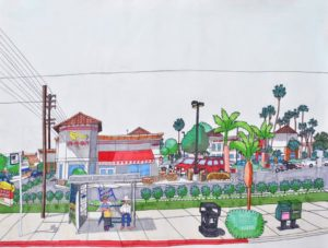 in-n-out-burger-13850-francisquito-avenue-baldwin-park-california-2016-mixed-media-on-paper-45-7-x-61-cm