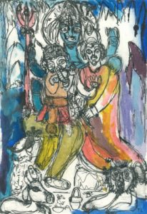 one-big-family-2015-ink-and-watercolour-on-paper-29-7-x-42-cm