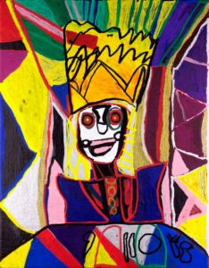 prince-yugio-2015-acrylic-and-paint-marker-on-canvas-panel-35-5-x-28-cm