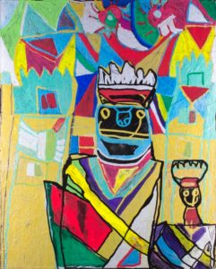 prince-and-princess-2015-acrylic-and-paint-marker-on-canvas-panel-50-8-x-40-6-cm