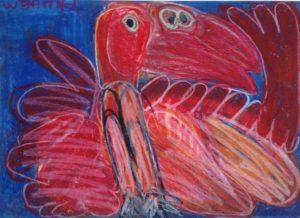 red-%ef%ac%82amingo-2013-oil-pastel-on-paper-50-x-70-cm