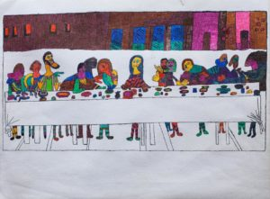 the-last-supper-2015-ink-on-paper-23-x-30-5-cm