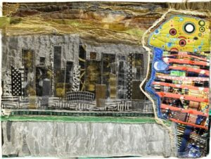 the-taxi-driver-2015-fabric-and-stitching-25-5-x-35-5-cm